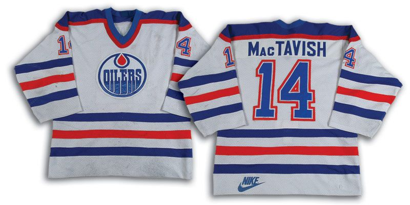 timeless design 025ba 3eac2 Lot Detail - 1985-86 Craig MacTavish Edmonton Oilers Game ...