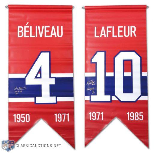 finest selection ce297 a8356 Lot Detail - Jean Béliveau & Guy Lafleur Signed Montreal ...