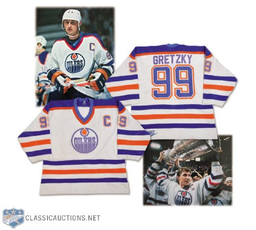 timeless design c32ef 73c6b Lot Detail - Wayne Gretzky's 1986-87 Edmonton Oilers 500th ...