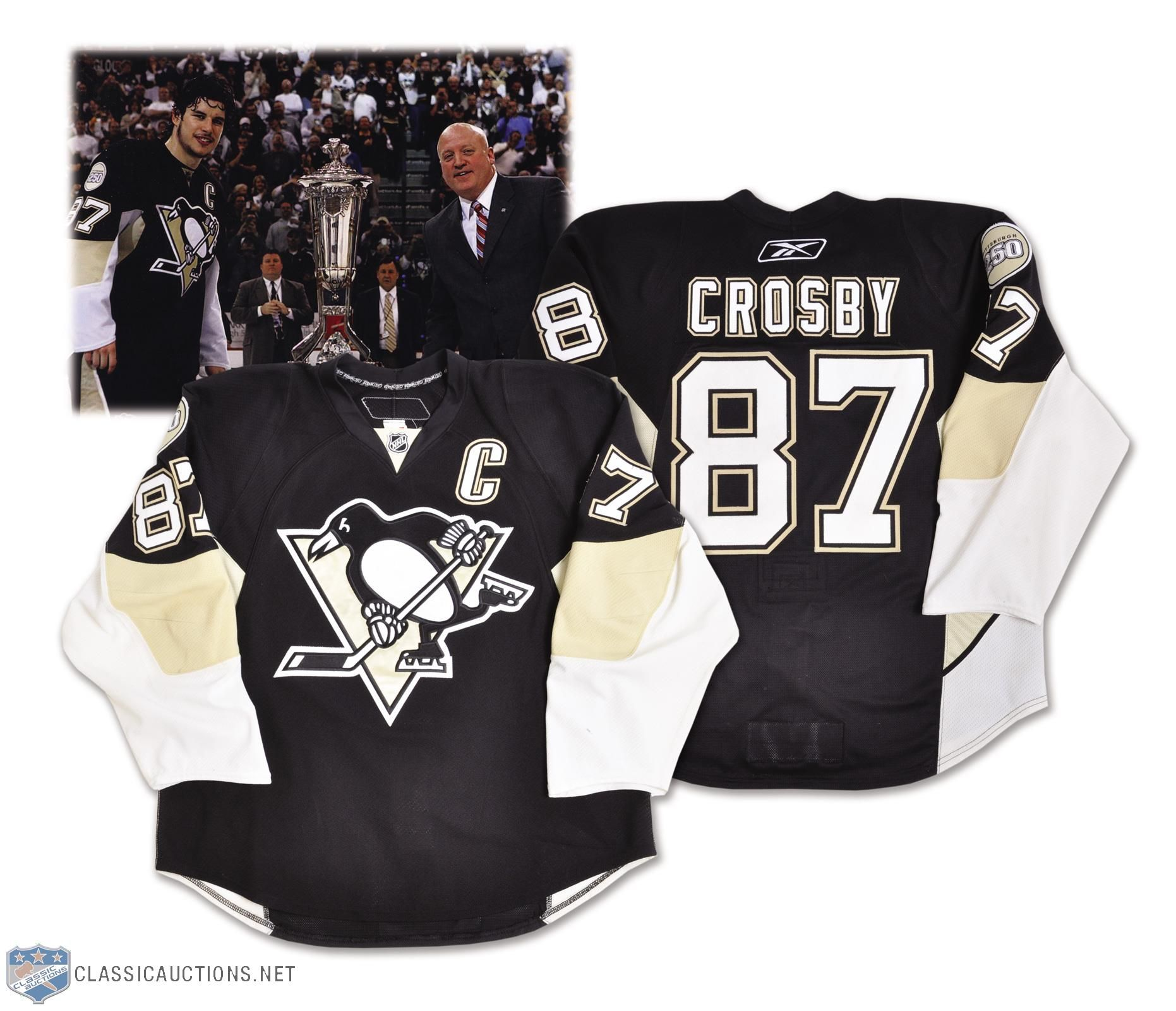 Lot Detail - Sidney Crosby s 2007-08 Pittsburgh Penguins Game-Worn ... 6daea6fb116