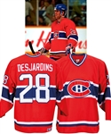 Eric Desjardins Mid-1990s Montreal Canadiens Game-Worn Jersey Obtained from Team with LOA