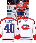 Andre Racicots 1991-92 Montreal Canadiens Game-Worn Jersey with Team LOA - 75th Patch!
