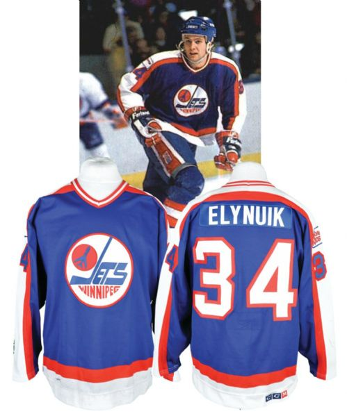Pat Elynuik's 1987-88 Winnipeg Jets Game-Worn