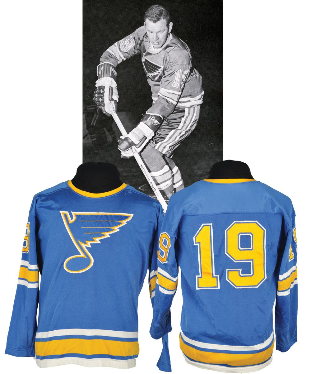 lot detail terry crisp 39 s 1967 68 st louis blues inaugural season game worn jersey team. Black Bedroom Furniture Sets. Home Design Ideas