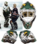 Ed Belfours 1999-2000 Dallas Stars Game-Worn Warwick Goalie Mask - Worn In Stanley Cup Playoffs and Finals! - Photo-Matched!