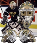 Ed Belfours 1997-98 Dallas Stars Game-Worn Warwick Goalie Mask - His First Dallas Mask! - Photo-Matched!