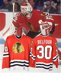 Ed Belfours 1993-94 Chicago Black Hawks Game-Worn Jersey - Team Repairs! - Photo-Matched!