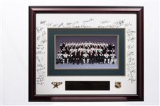 "Ed Belfours 1999-2000 Dallas Stars Team-Signed Western Conference Champions Limited-Edition #20/220 Framed Display (30"" X 36"")"