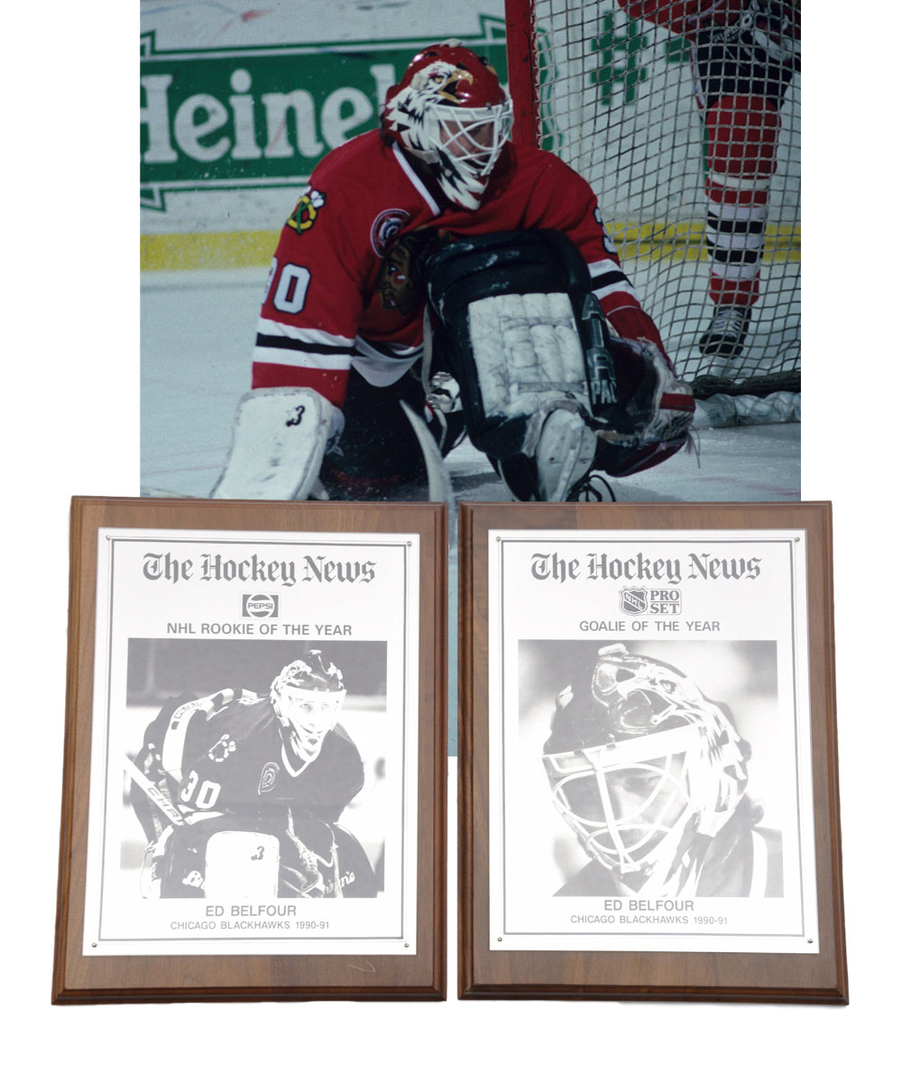 "Ed Belfour's 1990-91 The Hockey News ""NHL"