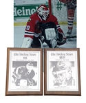 "Ed Belfours 1990-91 The Hockey News ""NHL Rookie of the Year"" and ""Goalie of the Year"" Awards"