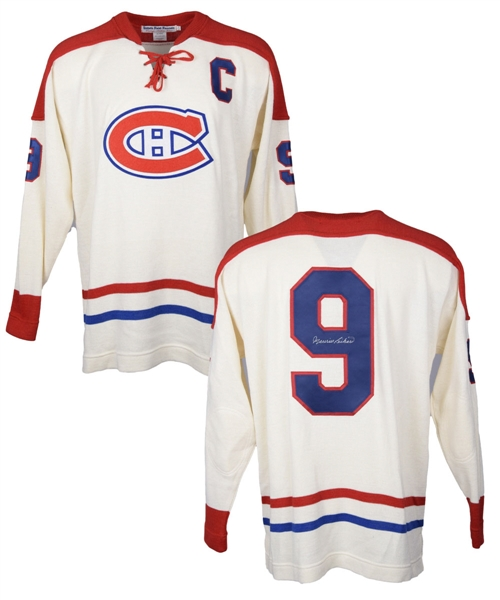 Maurice Richard Signed Montreal Canadiens Ebbets Field Flannels Captains Jersey