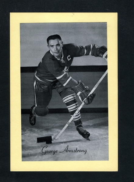 George Armstrong (Captain - Light Background) Toronto Maple Leafs Bee Hive Group 2 Photo (1945-64)