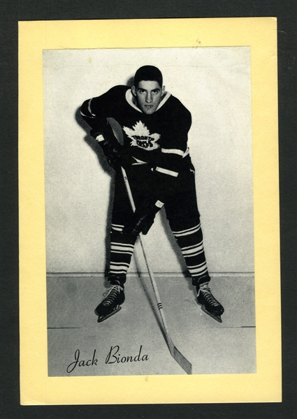 Jack Bionda Toronto Maple Leafs Bee Hive Group 2 Photo (1945-64)