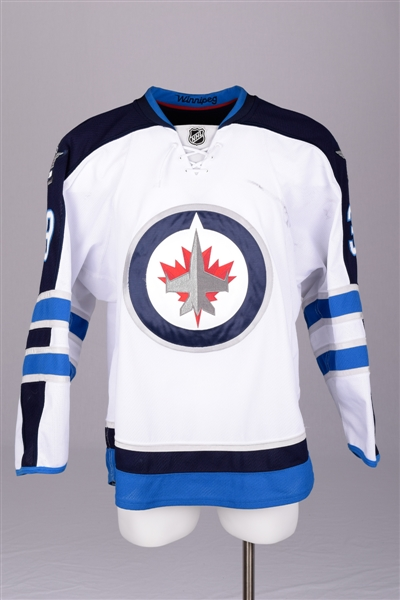 Tobias Enstroms 2012-13 Winnipeg Jets Game-Worn Jersey with Team LOA - Photo-Matched!