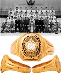 Toronto Maple Leafs 1950-51 Stanley Cup Championship 10K Gold and Diamond Ring