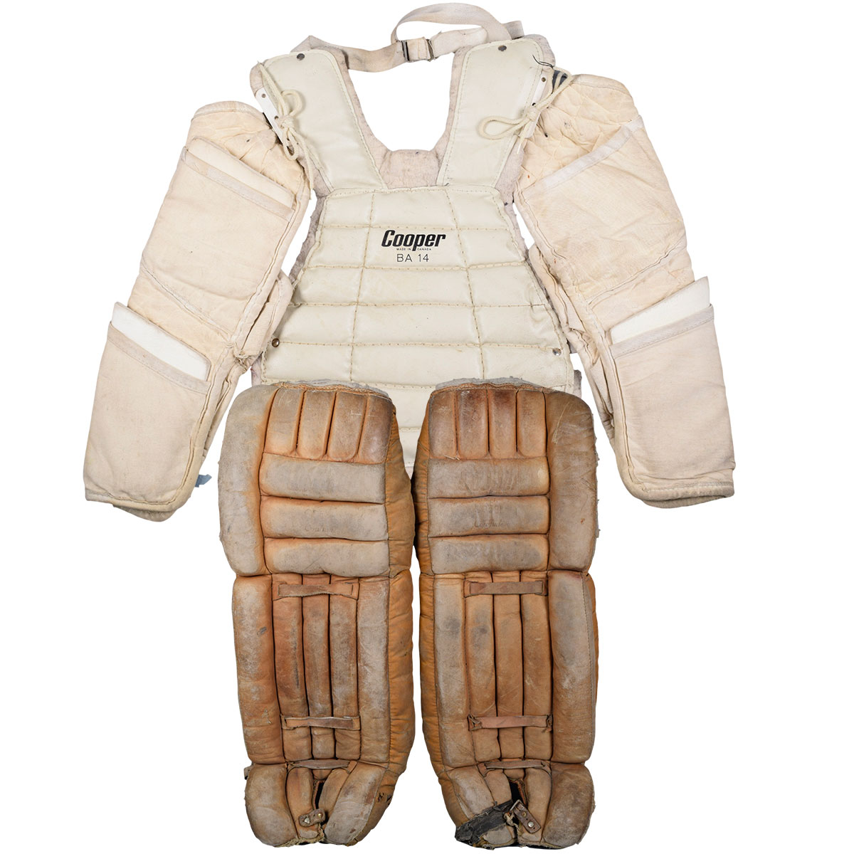 Lot Detail Vintage Hockey Goalie Equipment Collection Of 13 With