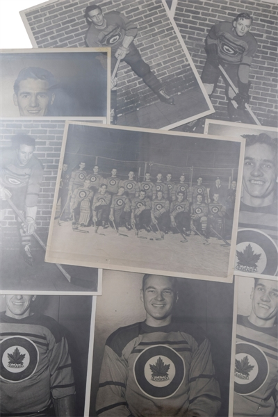 "Julius ""Pete"" Leichnitzs 1948 RCAF Flyers Olympic Hockey Champions Photo Collection of 69"