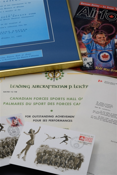"Julius ""Pete"" Leichnitzs Canadian Armed Forces and Ottawa Sports Hall of Fame Induction Certificates and Memorabilia Collection with LOA"