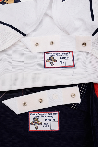 uk availability 8a694 dab0f Lot Detail - Mike Duco's 2010-11 Florida Panthers Game-Worn ...