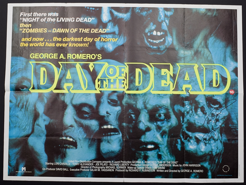 USA Day of the Dead Movie POSTER 27 x 40 Lori Cardille C NEW Terry Alexander