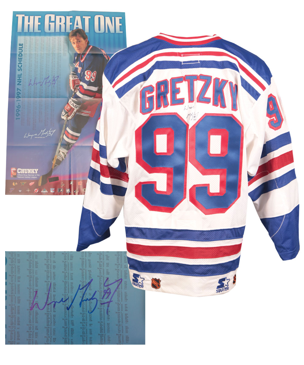 Lot Detail - Wayne Gretzky Signed New York Rangers Jersey and Signed ...