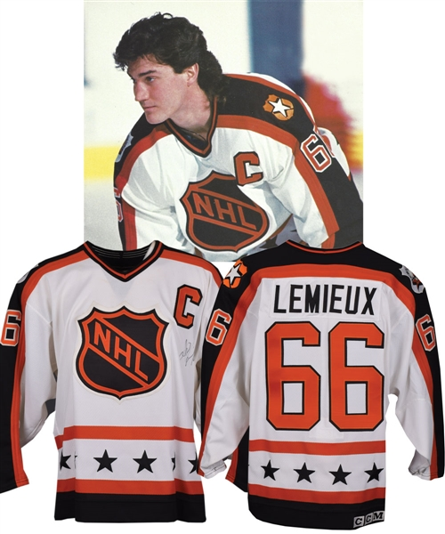 timeless design b24b0 4791c Lot Detail - Mario Lemieux's 1990 NHL All-Star Game Wales ...