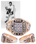 "Gordon ""Red"" Berensons Team Canada 1972 ""Team of the Century"" 14K Gold and Diamond Ring with His Signed LOA"