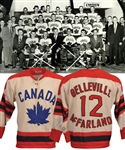 "Gordon ""Red"" Berensons 1959 World Championships Belleville McFarlands Team Canada Game-Worn Wool Jersey with His Signed LOA - World Champions!"