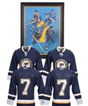 "Gordon ""Red"" Berensons St. Louis Blues ""Salute to #7"" Framed Original Art on Canvas and Multi-Signed Jerseys (2) with His Signed LOA"