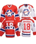 "Gordon ""Red"" Berensons Montreal Canadiens ""Original Six"" Oldtimers Game-Worn Jerseys with His Signed LOA"