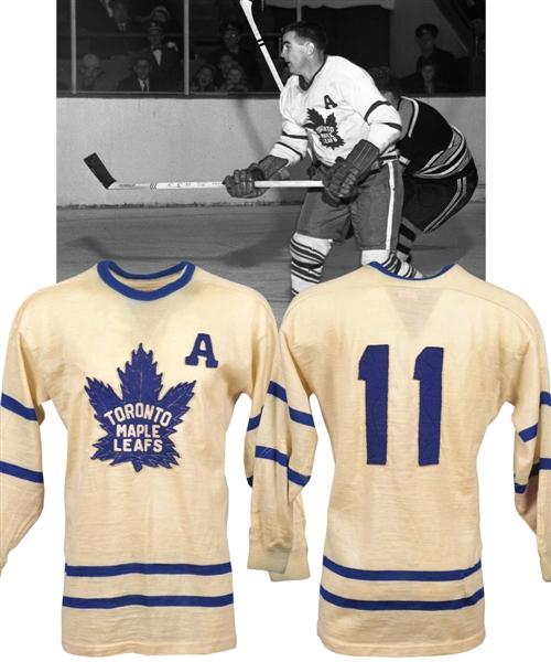 check out 73d8e e9f9f Lot Detail - Tod Sloan's Circa 1955-56 Toronto Maple Leafs ...
