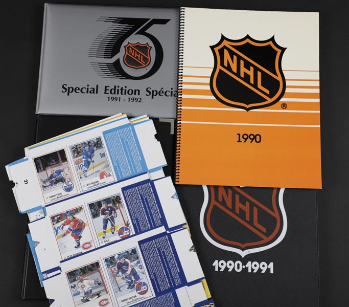1989-1993 Kraft Hockey Card Collection in Albums (8)