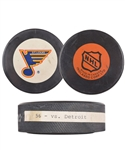 "Brett Hulls 1989-90 St. Louis Blues ""56th Goal of Season"" Goal Puck with His Signed LOA"