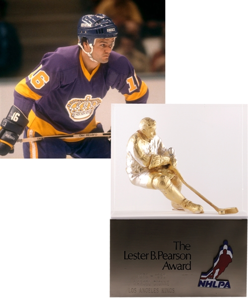 Marcel Dionnes 1979-80 Los Angeles Kings Lester B. Pearson Award from His Personal Collection - NHLs Outstanding Player as Selected by the League's Players!