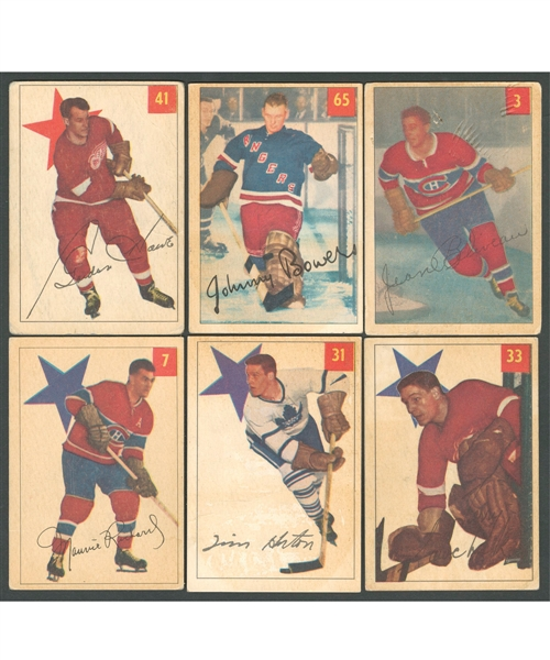 1954-55 Parkhurst Hockey Complete 100-Card Set