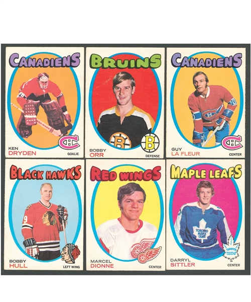 1971-72 O-Pee-Chee Hockey Complete 264-Card Set Plus 1971-72 Booklet, 1972-73 Player Crests and Team Canada Sets/Near Sets and Singles