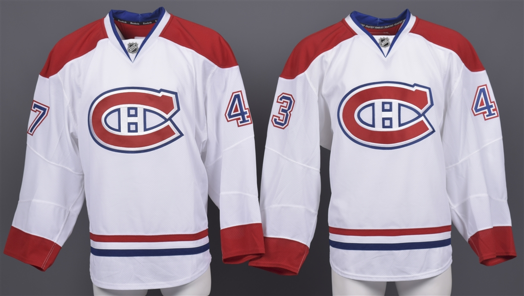 Brendon Nash's and Alexandre Picard's 2010-11 Montreal Canadiens Game-Issued Away Jerseys with Team LOAs