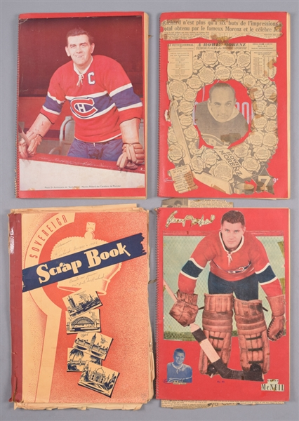 Vintage 1950s/60s Hockey Scrapbook Collection of 36 with Over 25 1945-54 Quaker Oats Premium Photos