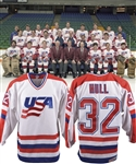 Brett Hulls 1987 Canada Cup Team USA Pre-Tournament Game-Worn Jersey with His Signed LOA