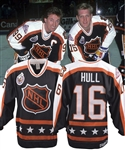 Brett Hulls 1993 NHL All-Star Game Campbell Conference Game-Worn Jersey with His Signed LOA
