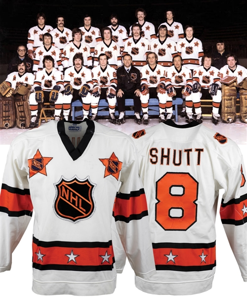 Steve Shutts 1978 NHL All-Star Game Wales Conference Game-Worn Jersey from His Personal Collection with His Signed LOA