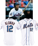 Roberto Alomars 2002 New York Mets Game-Worn Home Jersey - 40th Anniversary and 9/11 Patches!