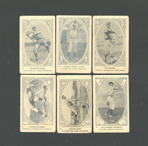 1922 Neilsons Chocolate Type 1 V-61 Baseball Card Collection of 24 Including HOFer Waite Hoyt