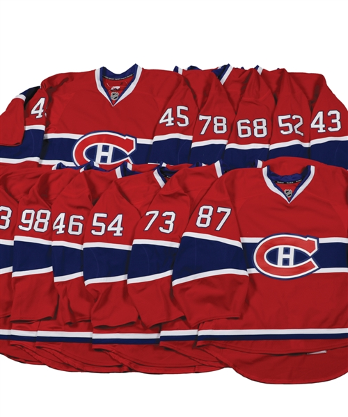 Montreal Canadiens 2010s Game-Issued/Worn Home Jerseys (11) with Team LOAs - Complete Beer League Set!