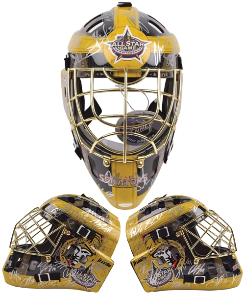 National Hockey League 2012 All-Star Game Team-Signed Goalie Mask by Both Teams with COA