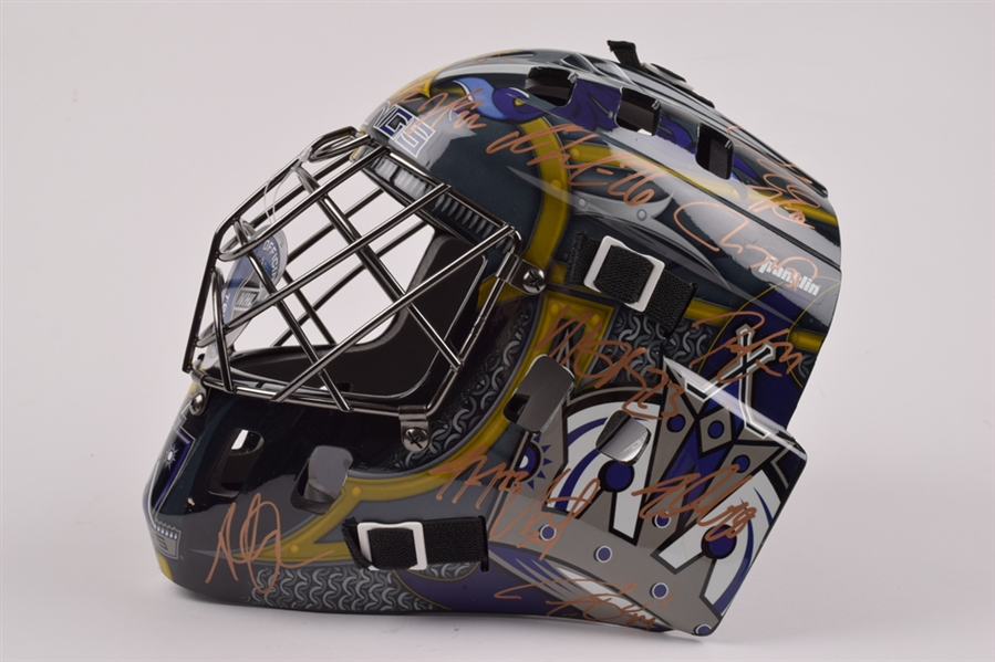 Los Angeles Kings 2013-14 Stanley Cup Champions Team-Signed Full Size Goalie Mask with COA