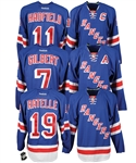 New York Rangers GAG Line Single-Signed Jerseys (3) of Hadfield, Ratelle and Gilbert from Vic Hadfields Personal Collection with His Signed LOA