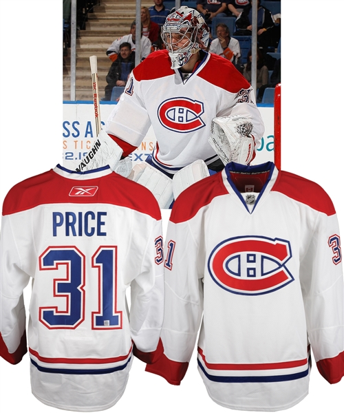 Carey Prices 2010-11 Montreal Canadiens Game-Issued Jersey with Team LOA