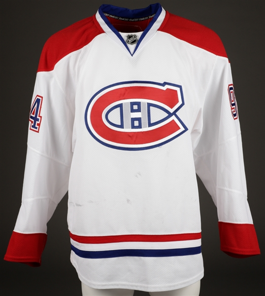 Tom Pyatts 2010-11 Montreal Canadiens Game-Worn Jersey with Team LOA