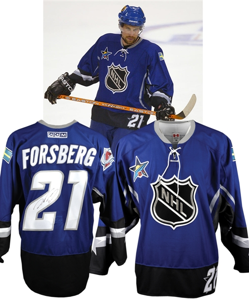 Peter Forsbergs 2003 NHL All-Star Game Western Conference Signed Game-Worn Jersey